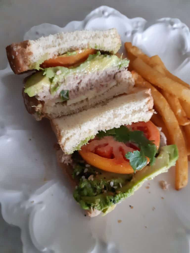 Avocado Tuna Sandwich 1